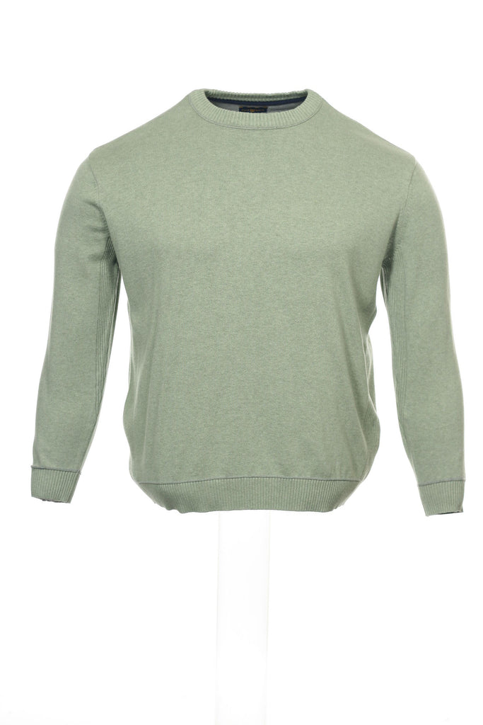Club Room Mens Light Green Heather Crew Neck Sweater