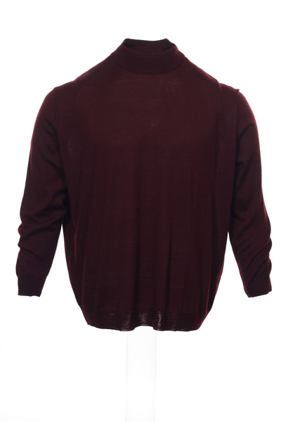 Club Room Mens Burgundy Heather Mock Neck Sweater