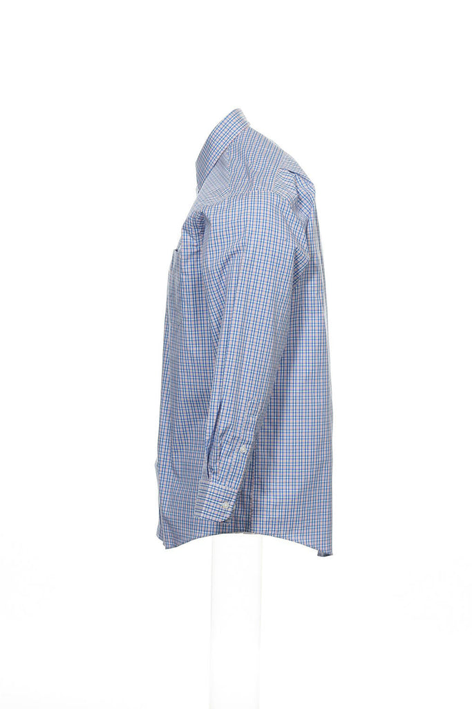 The Estate Dress Shirt by Club Room Mens Blue Plaid Button Down Shirt