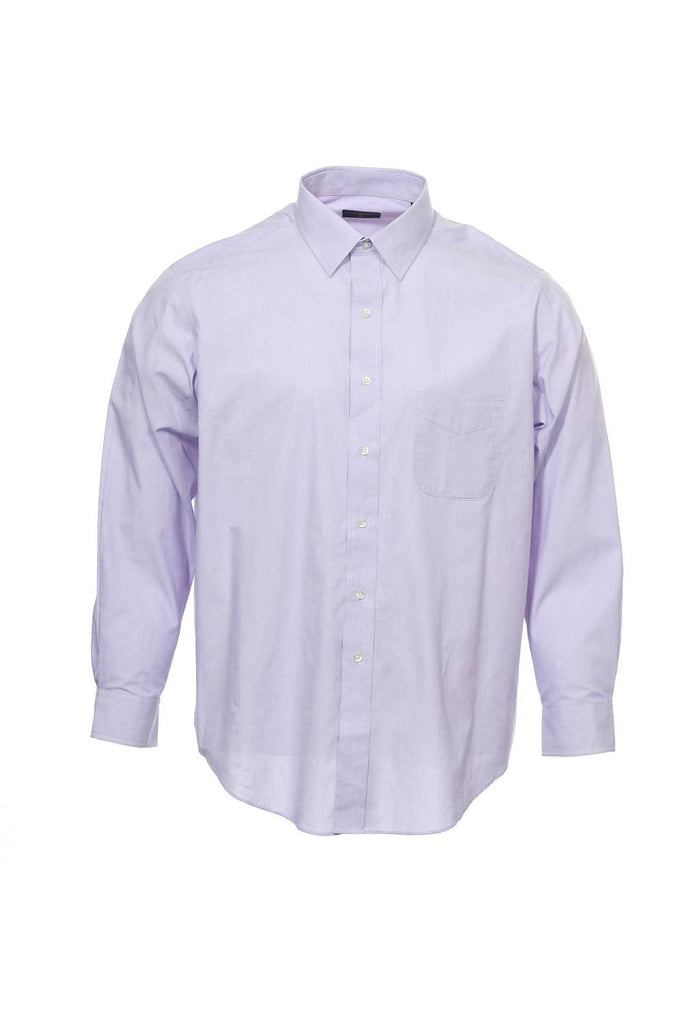 The Estate Dress Shirt by Club Room Mens Light Purple Heather Button Down Shirt