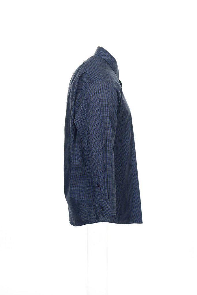 Club Room Mens Blue Plaid Button Down Shirt
