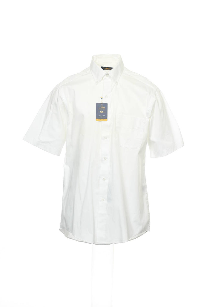 The ESTATE Dress Shirt Mens White Button Down Shirt