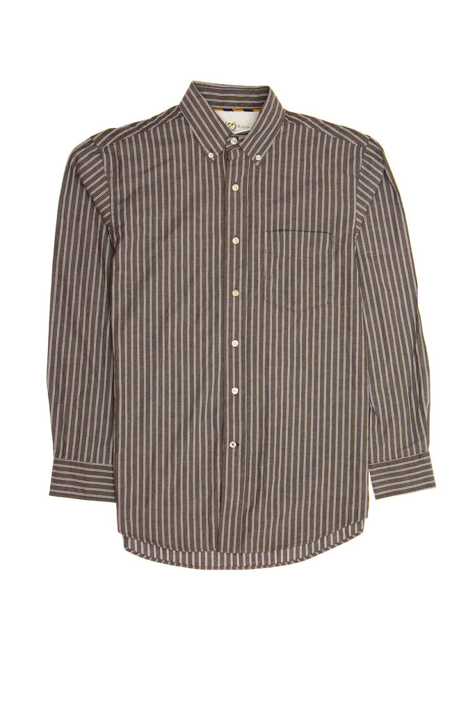 Club Room Mens Red Striped Button Down Shirt