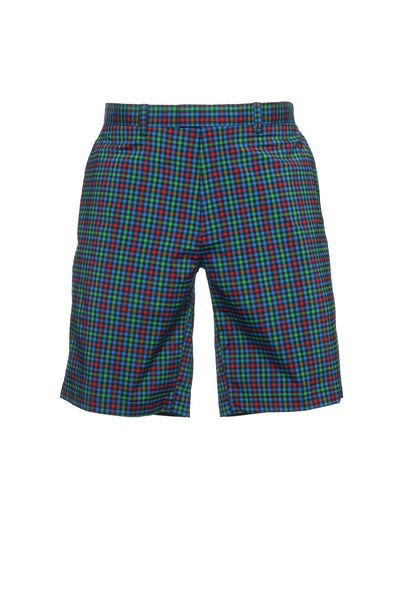 Callaway Golf Mens Multi-Color Checked Flat Front Walking Shorts