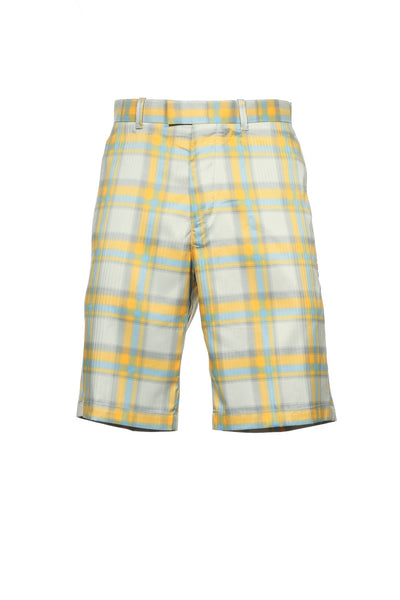 Callaway Golf Mens Multi-Color Plaid Flat Front Walking Shorts