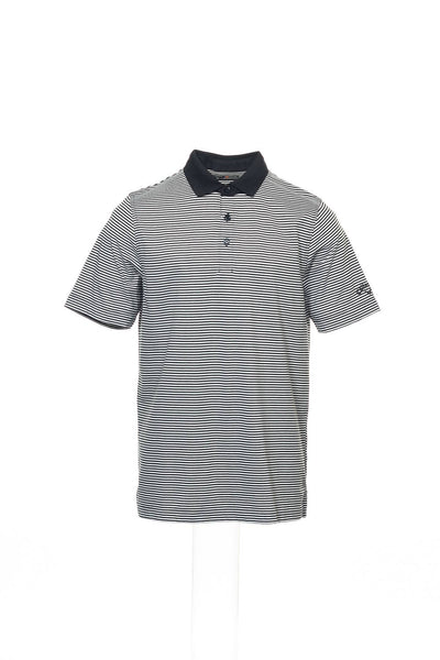 Callaway Golf Mens Black Micro Striped Polo Shirt