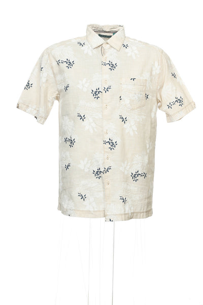 Cubavera 'Bliss' Mens Beige Hawaiian Camp Shirt