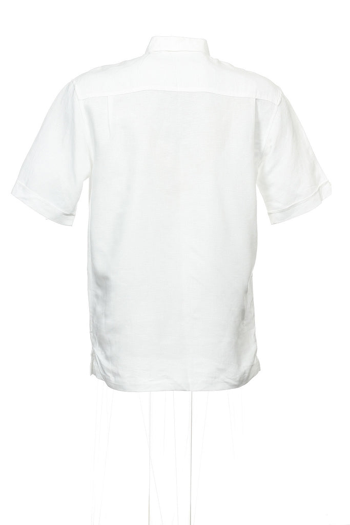 Cubavera Mens White Camp Shirt