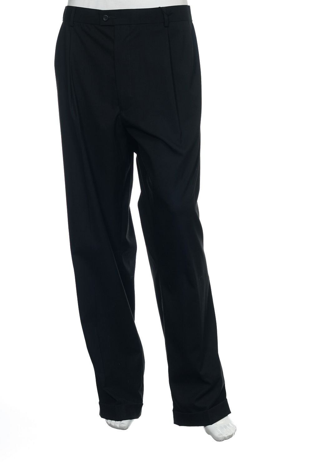 Dockers Premium Mens Black Pleated Dress Pants
