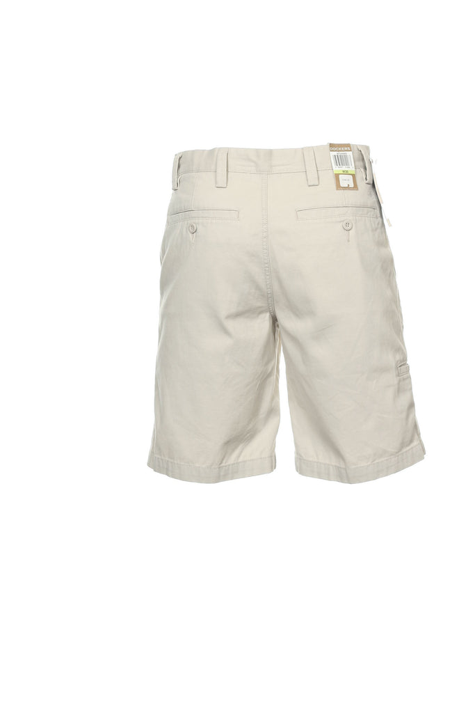 Dockers Mens Ivory Flat Front Walking Shorts