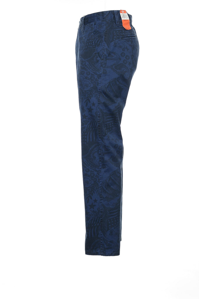 Dockers 'Alph Collection' Mens Blue Graphic Flat Front Pants