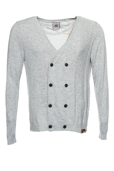 Diesel 'Tricot & Co' Mens Light Gray Heather Cardigan Sweater