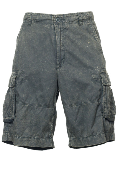 Chorclothing.co Mens Gray Abstract Flat Front Walking Shorts
