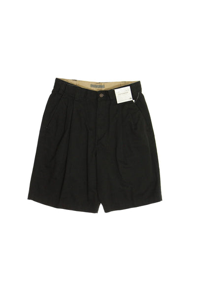 GB by Geoffrey Beene Mens Black Pleated Walking Shorts