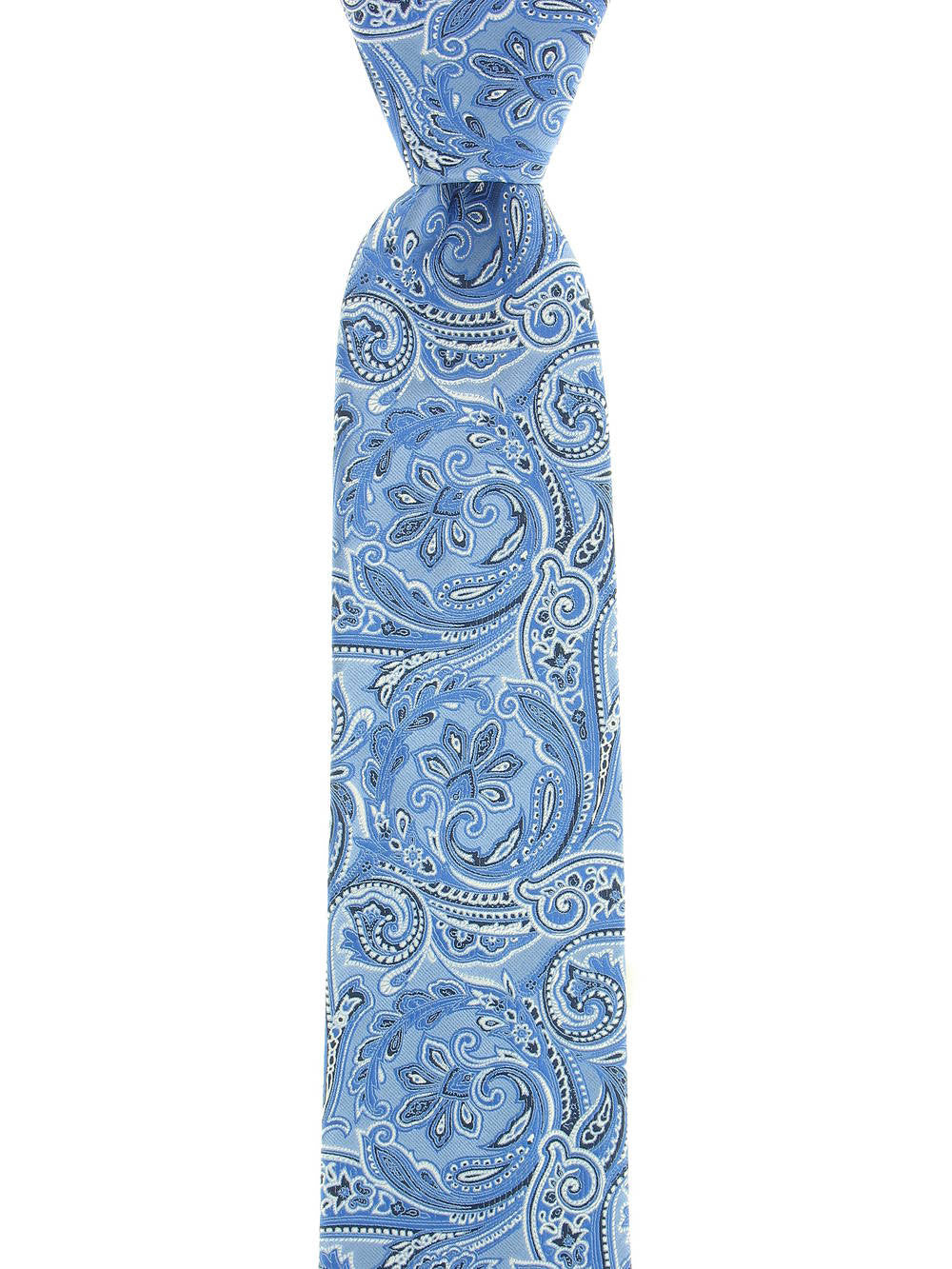 Geoffrey Beene Mens Light Blue Paisley Tie