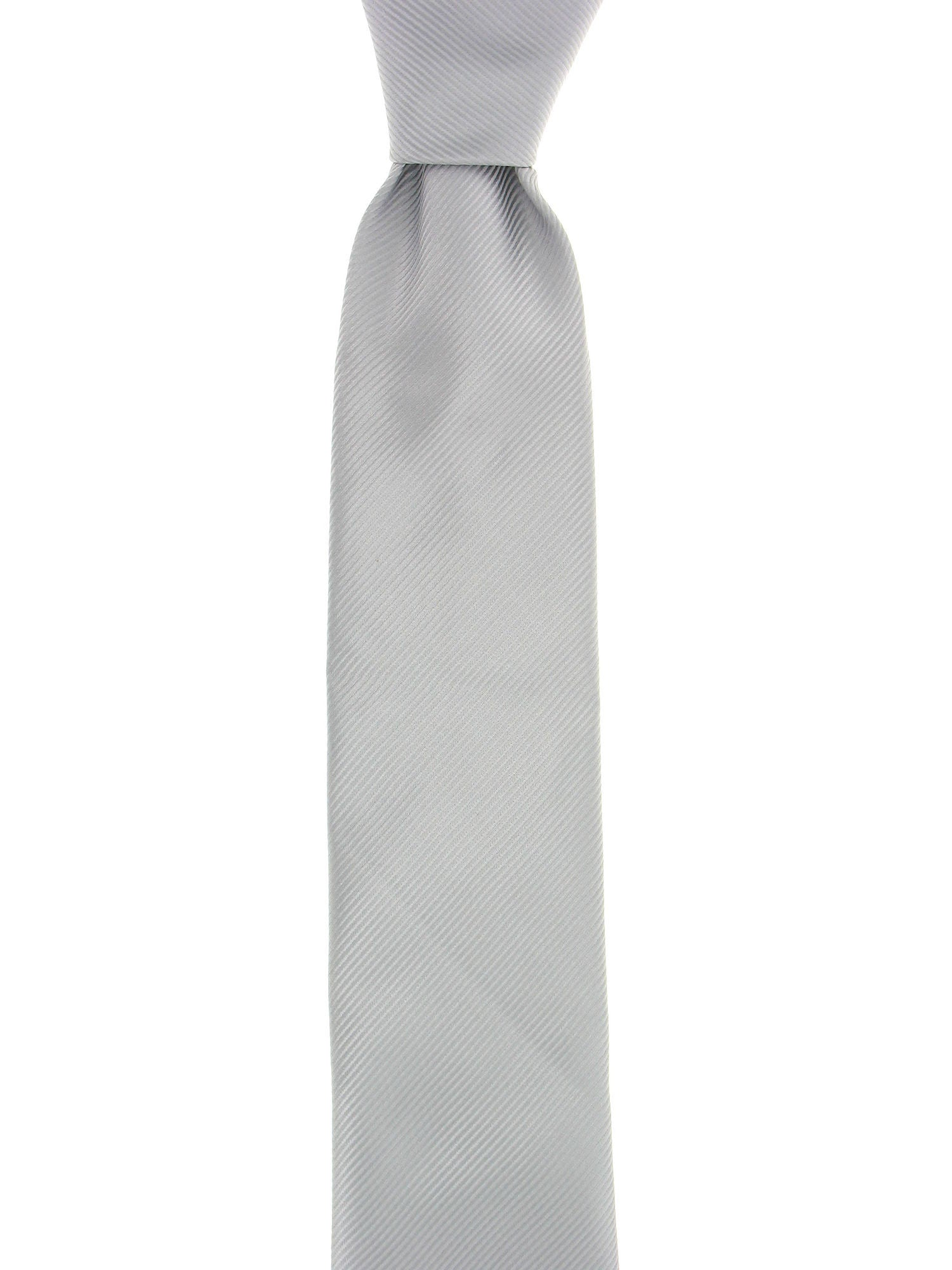 Geoffrey Beene Mens Silver Striped Tie