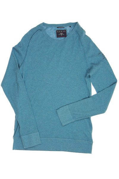Guess Mens Blue Heather Thermal Shirt