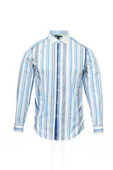 INC International Concepts Mens Light Blue Striped Button Down Shirt