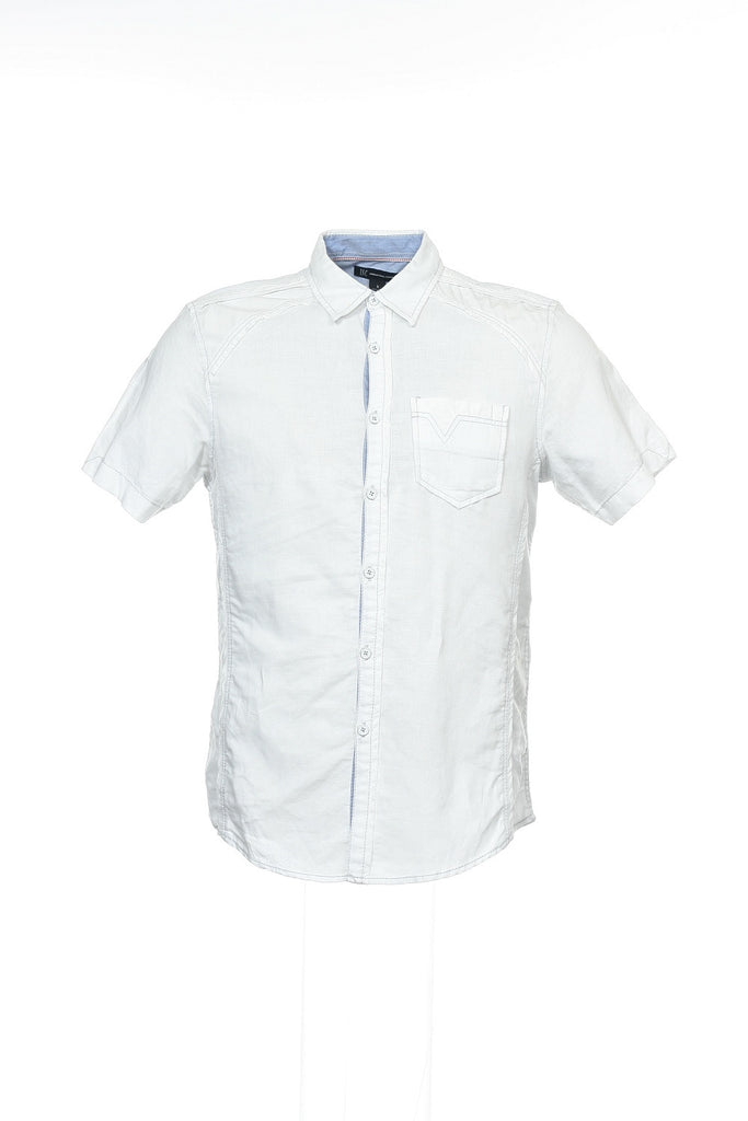 INC International Concepts Mens White Button Down Shirt