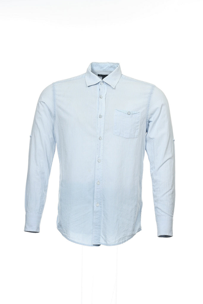 INC International Concepts Mens Light Blue Micro Striped Button Down Shirt