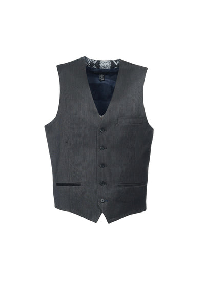 INC International Concepts Mens Black Two Tone Suit Vest