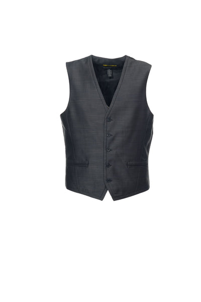 INC International Concepts Mens Gray Herringbone Suit Vest