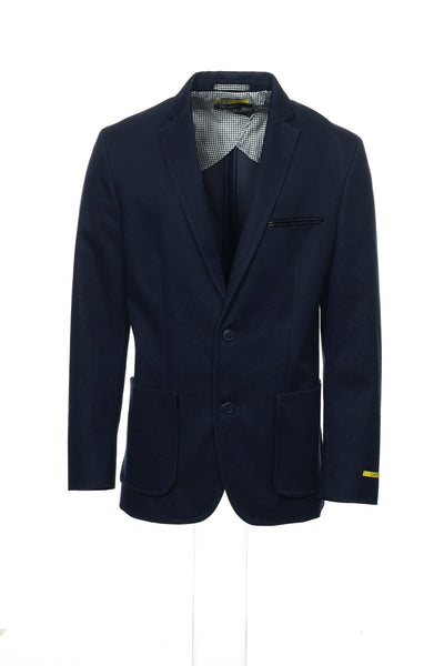 INC International Concepts Mens Blue Heather Blazer