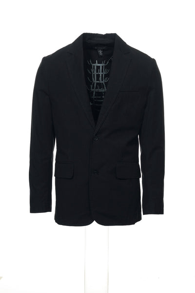 INC International Concepts Mens Black Chevron Blazer