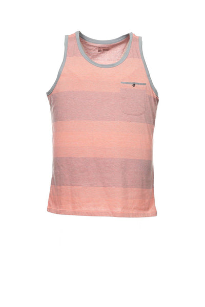 INC International Concepts Men's Orange Striped Tank Top