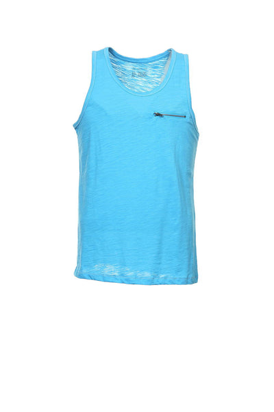 INC International Concepts Mens Blue Heather Tank Top