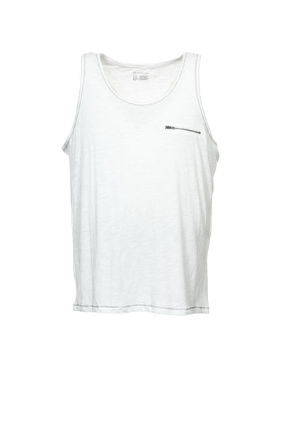 INC International Concepts Mens White Heather Tank Top