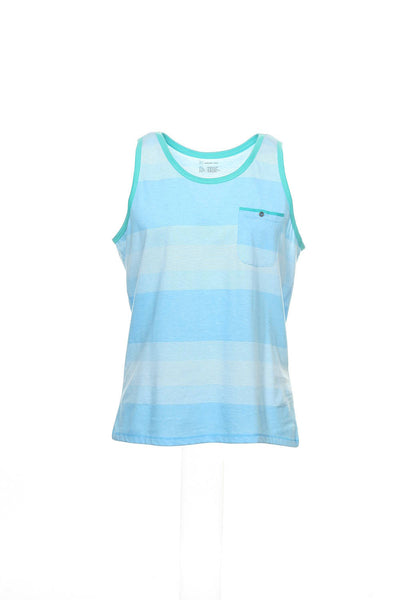 INC International Concepts Mens Blue Wide Striped Tank Top