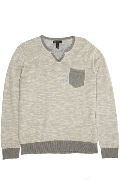 INC International Concepts Mens Beige Heather Henley Sweater
