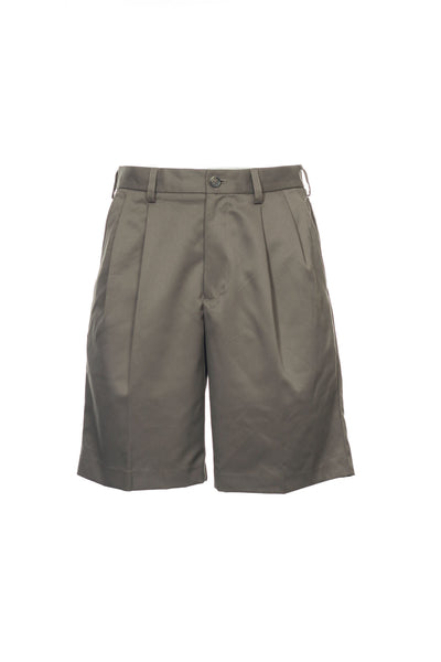 Izod Mens Taupe Pleated Walking Shorts