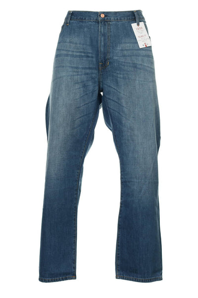 Izod Mens Blue Heather Relaxed Fit Jeans