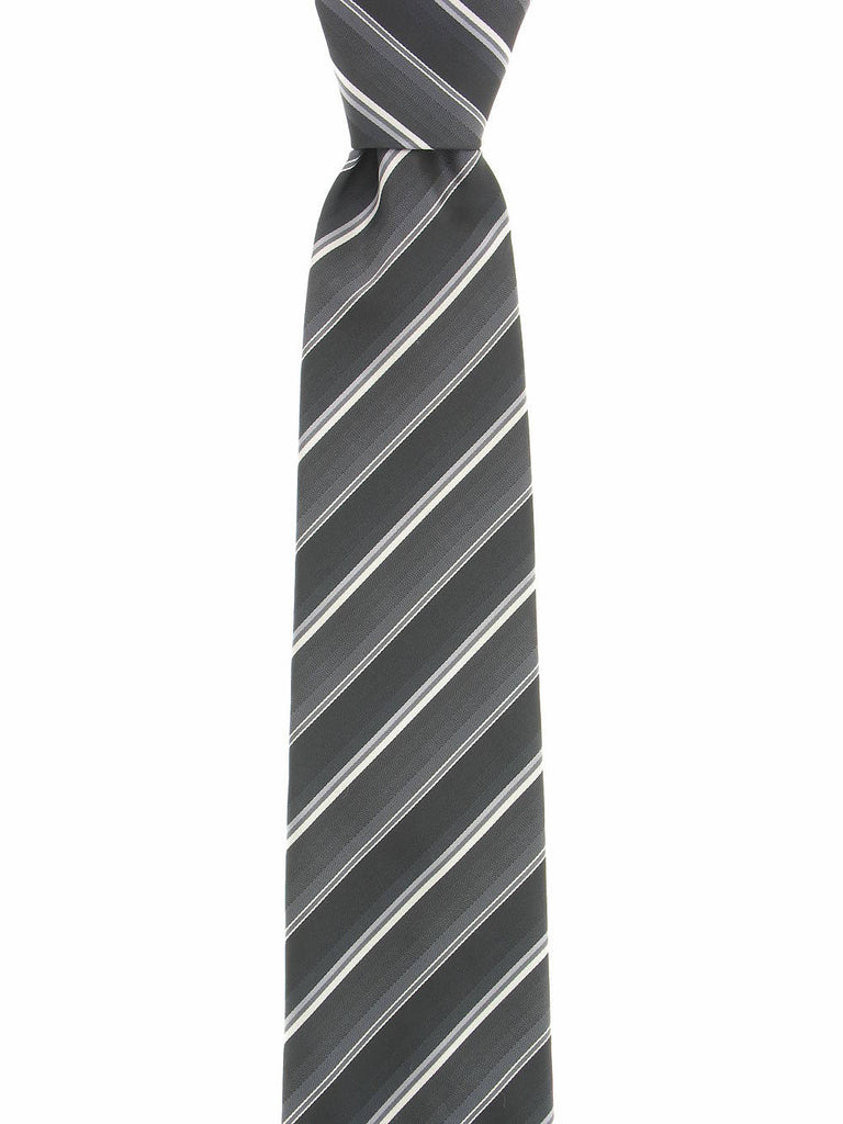 John Ashford Mens Gray Plaid Tie