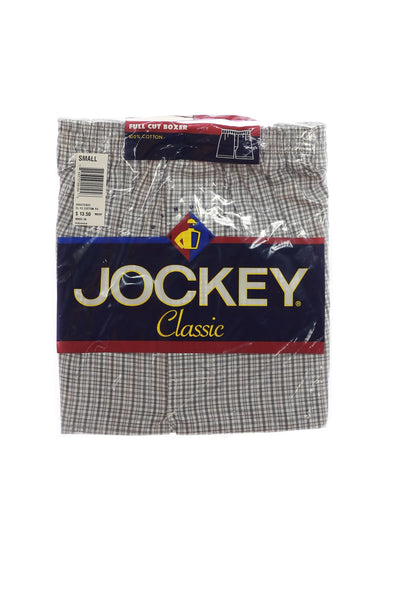 Jockey Mens Light Gray Plaid Boxers