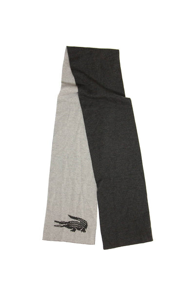 Lacoste Mens Gray Scarf