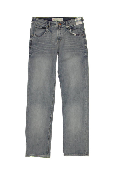 lee Mens Blue Distressed Straight Leg Jeans
