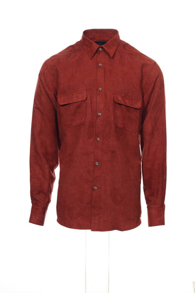 Michelsons Studio Mens Rust Heather Button Down Shirt