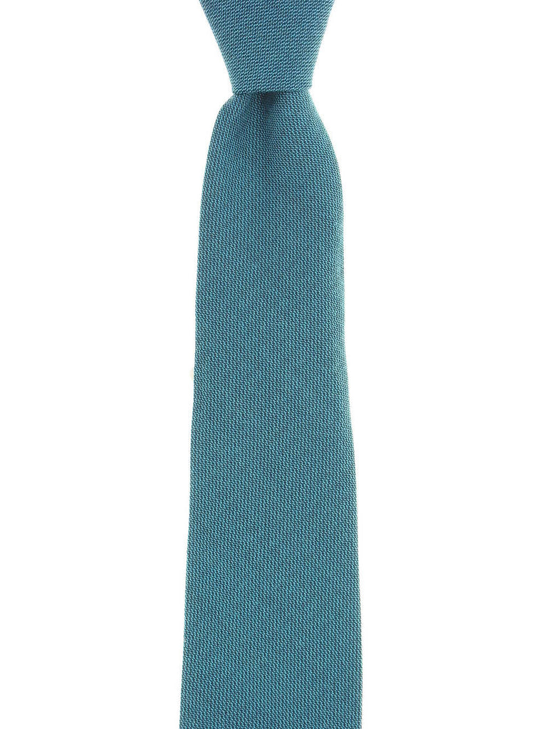 Michelsons of London Mens Teal Dotted Tie