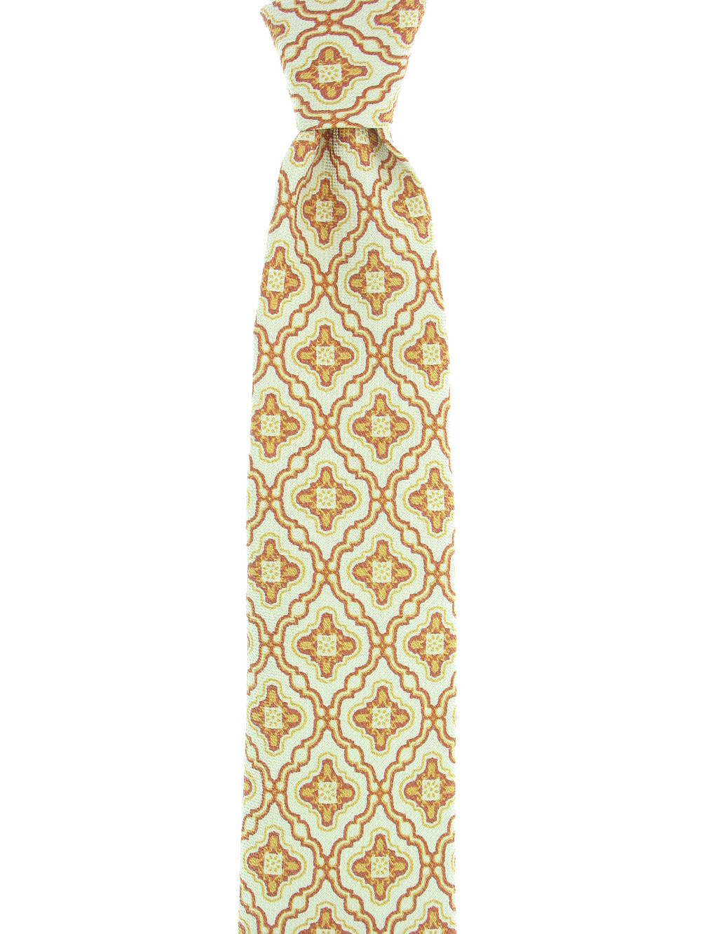 Michelsons of London Mens Rust Paisley Tie