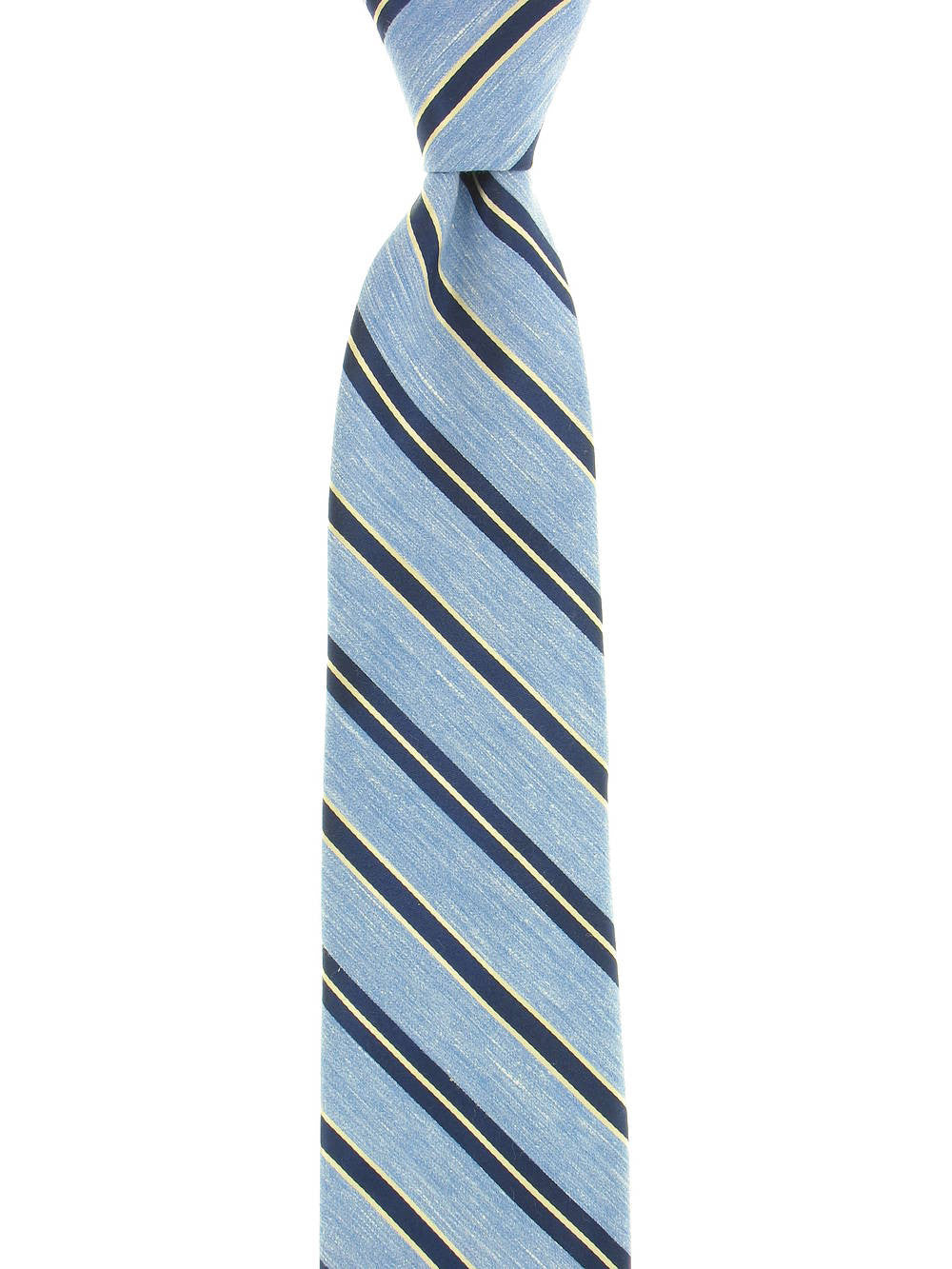 Michelsons of London Mens Light Blue Striped Tie