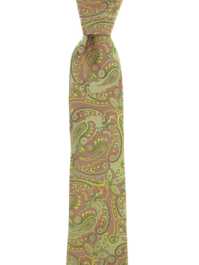 Michelsons Mens Rust Paisley Tie