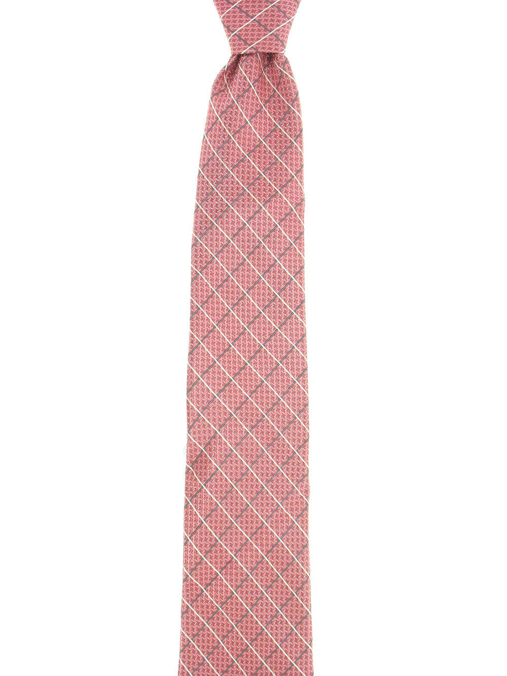 Michelsons Mens Salmon Checked Tie