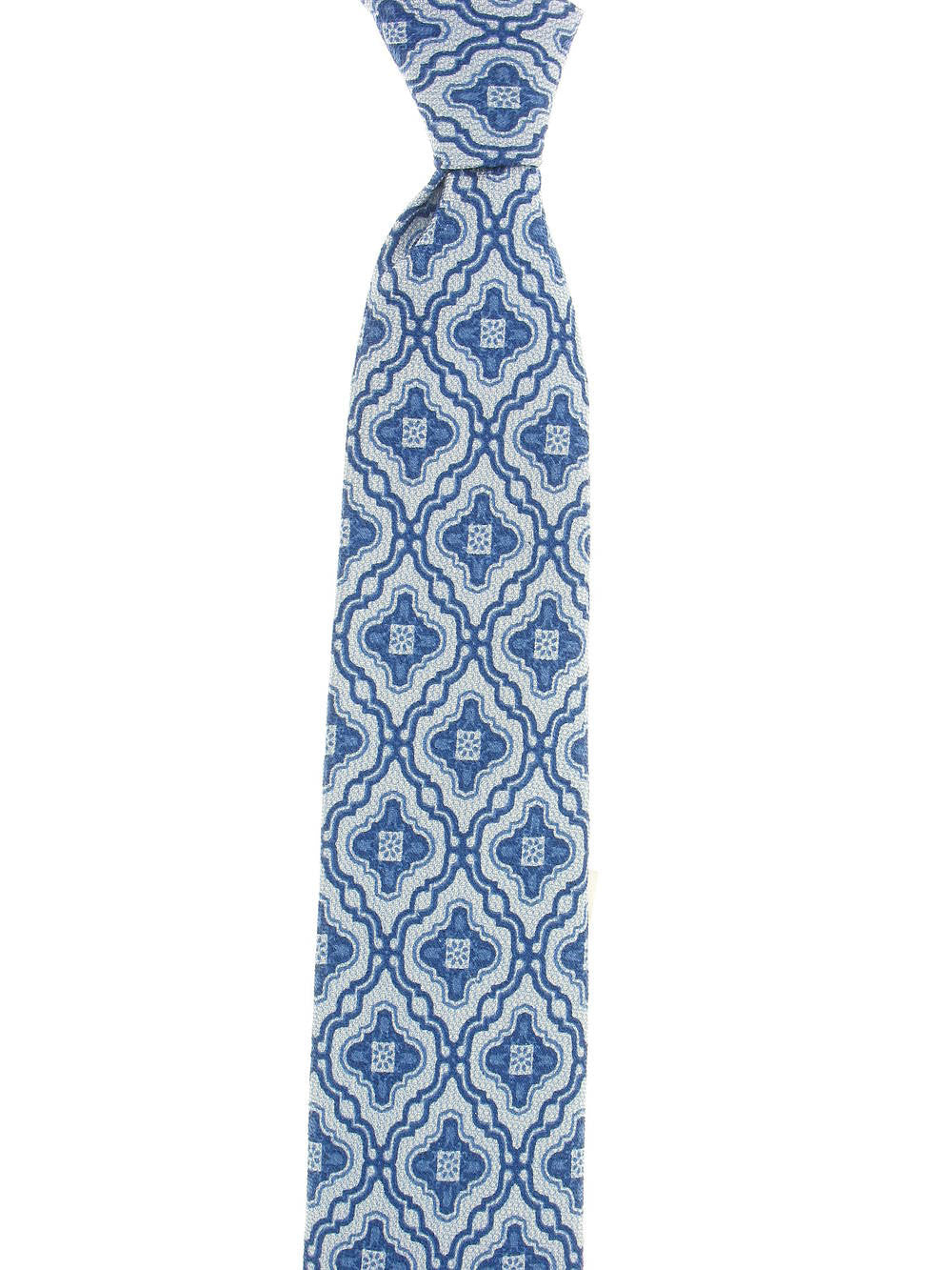 Michelsons of London Mens Light Blue Paisley Tie