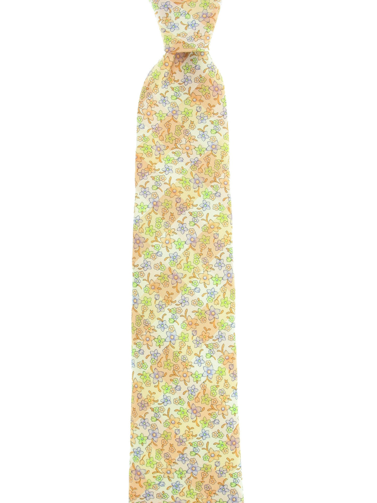 Michelsons Mens Light Orange Floral Tie