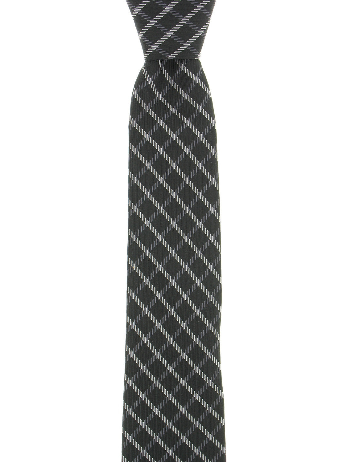 Michael by Michael Kors Mens Black Checked Tie