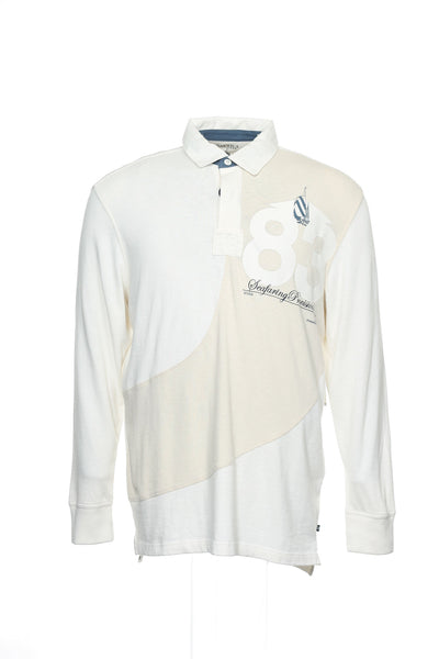 Nautica Heritage Mens Ivory Graphic Polo Shirt