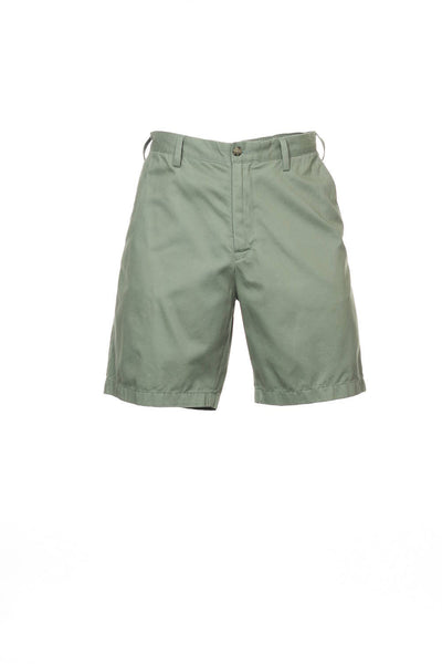 The Deck Short by Nautica Mens Olive Green Flat Front Walking Shorts